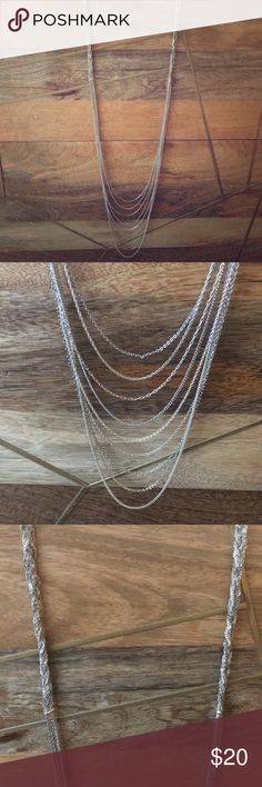 Stella and dot layering necklace Mixture of silvers, longer in length. With adjustable clasp. Delicate but perfect to dress something up. Stella & Dot Jewelry Necklaces