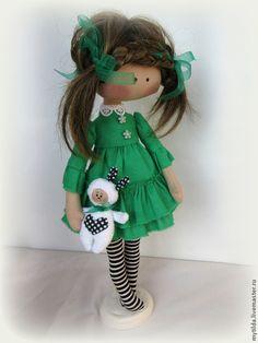 Куклы тыквоголовки ручной работы. Ярмарка Мастеров - ручная работа Green Girl. Handmade.