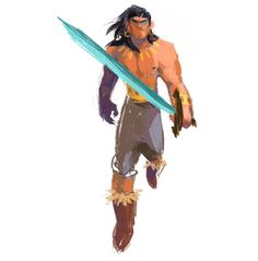 Also known as Conan the Barbarian, character design with a panting approach
