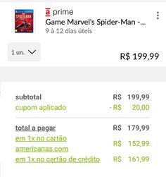[Americanas] Marvel's Spider-Man PS4 R$ 15299 em 1x no CC da loja  Frete Grátis Spider Man Ps4, Marvel, Apps