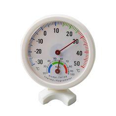 Высокая мини круглый часы-образный Indoor Открытый гигрометр Влажность термометр Температура метр колеи