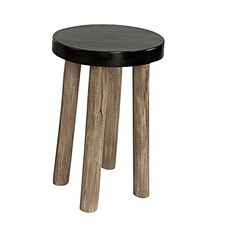 Exude sleek, contemporary style in your home with the versatile and handsome design of the sturdy Slogo Black Stool from LS Collections.