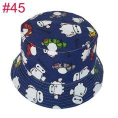 Retail Little girls kids flower summer hats cartoon Canvas fisherman girl's bucket caps children accessories 50 colors1pc H391