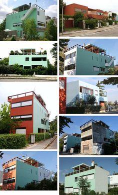 fondation le corbusier buildings maisons weissenhof. Black Bedroom Furniture Sets. Home Design Ideas