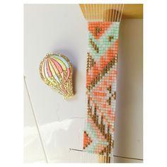 Cahier des charges : doré, mint, rose poudré, corail, blanc... :-) #bracelet #rosemoustache #perles #perlesaddict #perlesandco #defipocahontas #motifrosemoustache