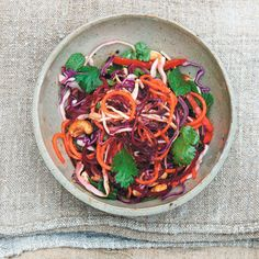 Raw vegetarian Asian salad recipe, A Love For Food from Daylesford. For the full recipe and more, click the picture or visit RedOnline.co.uk