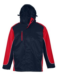 UNISEX NITRO JACKET - NAVY/RED/WHITE J10110 - BIZ COLLECTION Navy Gold, Rugby, Red And White, Athletic, Unisex, Hoodies, Jackets, Collection, Tops