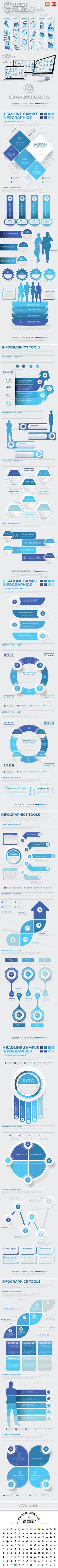 Best Infographics Elements Design Template Vector EPS, AI Illustrator. Download here: https://graphicriver.net/item/best-infographics-elements-design/17057367?ref=ksioks