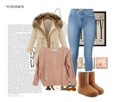 """""""Sweater Weather"""" by savannapodell ❤ liked on Polyvore featuring 7 For All Mankind, Ryan Roche, UGG and Hatcher & Ethan"""