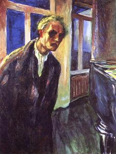 Edvard Munch Autorretrato - El Vagabundo de Noche 1923/24