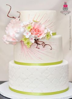 {Flower Burst} Wedding Cake - Cake by Esther Williams Gorgeous Cakes, Pretty Cakes, Amazing Cakes, Cupcakes, Cupcake Cakes, Cakepops, Elegant Wedding Cakes, Elegant Cakes, Dream Cake