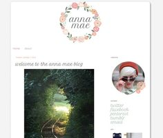Anna Mae  Premade Blogger Template by carrielovesdesign on Etsy, $30.00
