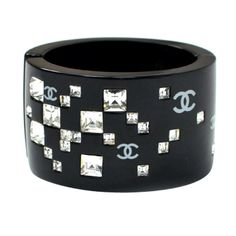 Vintage Chanel Cuff | From a unique collection of vintage cuff bracelets at http://www.1stdibs.com/jewelry/bracelets/cuff-bracelets/