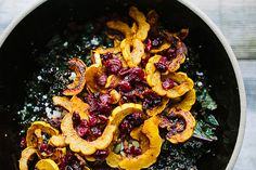 Fall Salad With Delicata Squash & Kale For the squash: 2 delicata squash 3 tbsps olive oil tsp sweet paprika tsp chipotle powder tsp sea salt For the salad: cup red quinoa cup water 1 bunch curly purple kale, stemmed and coarsely chopped Zest and . Thanksgiving Recipes, Fall Recipes, Whole Food Recipes, Cooking Recipes, Thanksgiving Salad, Thanksgiving 2013, Holiday Recipes, Chipotle, Squash Salad