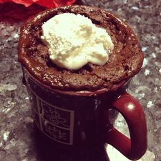Microwave Coffee Cup Brownies