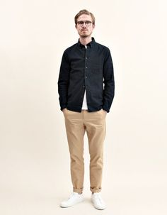 clean look man urban style streetwear man stylish look man casual office look man Fitz & Huxley www fitzandhuxley com is part of Minimal fashion - Minimal Fashion, Urban Fashion, Trendy Fashion, Mens Fashion, Nike Outfits, Casual Outfits, Fashion Outfits, Urban Outfits, Black Long Sleeve Shirt