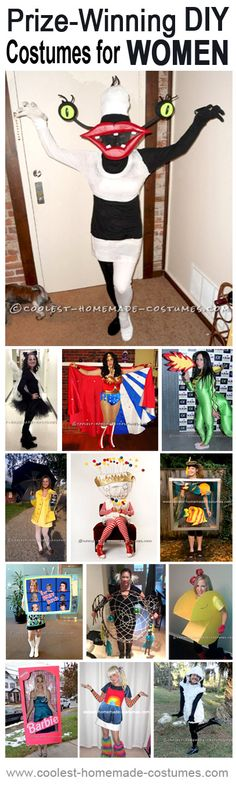 Cool DIY Costumes for Women that Really Won Prizes at Costume Contests! Enter the Coolest Halloween Costume Contest at http://ideas.coolest-homemade-costumes.com/submit/