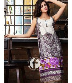 Firdous Embroidered Lawn Kurtis Collection 2016 FF_07B