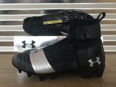 aaef0a66af6a Advertisement(eBay) Under Armour C1N MC Cam Newton High Football Cleats  Black Silver (