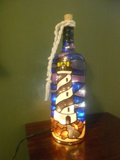 Check out this item in my Etsy shop https://www.etsy.com/listing/222556937/lighted-handpainted-wine-bottle-light