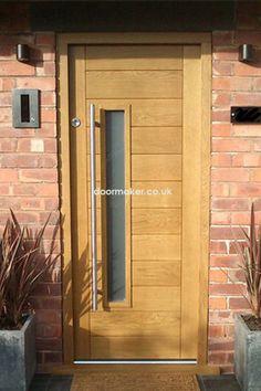 contemporary front door all wood