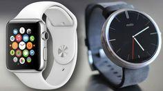 Apple Watch vs Moto Where Motorola Wins G Watch, Wear Watch, Android Wear, Android Watch, Best Apple Watch, Latest Android, Technology Articles, Best Smartphone, Wearable Device