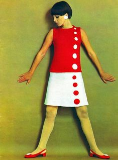 New moda vintage outfits polka dots 64 Ideas 1960s Mod Fashion, Sixties Fashion, 60 Fashion, Fashion History, Retro Fashion, Vintage Fashion, Fashion Design, Sporty Fashion, Dress Fashion
