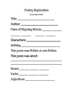 Poem Writing Paper: for final draft | Poetry | Pinterest | Writing ...