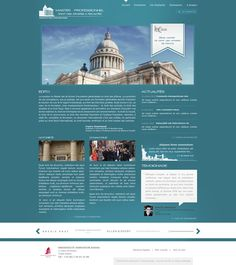 Paris law school web interface proposal 2 by ~Seyart