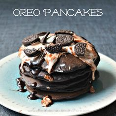 Grab yourself a glass of milk to go with these dark chocolate Oreo pancakes! Have you discovered black cocoa? If not, and you're a chocolate lover, you need to seek this out. Black cocoa is, well, black. Not brown but black. It's what gives Oreo cookies their wonderful dark chocolate flavor. About a year ago,...