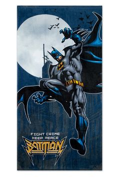 Batman Fight Crime Beach Towel #affiliate
