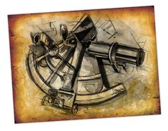Illustration of a Sextant