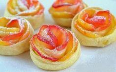 Mooie rozen... ( van bladerdeeg en appel's) Ga naar de bron voor de recept... en meer bv.