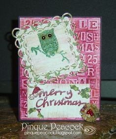 Created by Jessica of Jessica's Craft Shaque for Heather Lynn's OWL be Home for Christmas Blog Hop (via Pinque Peacock Blog)