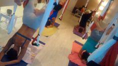 Escorpión aéreo en clase #pilatesaereo