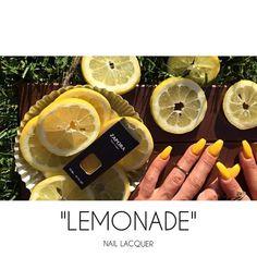 "NEW: ""LEMONADE"" Nail Lacquer (Summer '16) #ZAPORA #ZAPORANailLacquer www.shopzapora.com"