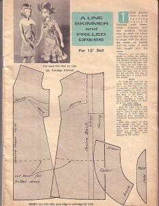 Free Fashion Doll Dress Pattern - A-Line Skimmer and Ruffled Dress