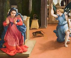 Lorenzo Lotto's paintings - The Annunciation