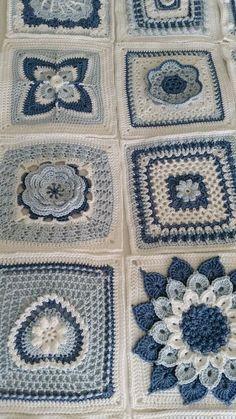 Ravelry: SharonBlignaut& Block a Week CAL 2014 - . Ravelry: SharonBlignaut& Block a . Crochet Bedspread Pattern, Crochet Quilt, Crochet Blocks, Granny Square Crochet Pattern, Crochet Mandala, Afghan Crochet Patterns, Crochet Squares, Crochet Motif, Crochet Designs