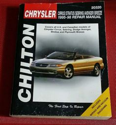 CHILTON REPAIR MANUAL Chrysler Dodge Cirrus Sebring Stratus Breeze Avenger 95-98