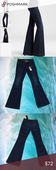 """❤️Guess Jeans 💋 BRITTNEY FLARE JEANS - RADIO WASH 💗As Seen in Allure Magazine💗This five-pocket fit caters to a variety of body types. Its medium-rise contoured waistband holds in the body, and theregular fit through the hip and thigh opens to a classic 22"""" flare leg below the knee. These jeans are made to give you a dramatic, flattering silhouette. •🌷Medium rise •🌷Regular fit •🌷Flare leg •🌷Five pocket construction Guess Jeans Flare & Wide Leg"""