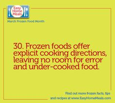It's Day 30! We love how easy it is to cook/bake/steam/heat frozen foods. No cooking or baking skills needed ;)