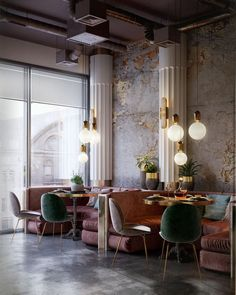 diy interieur WANDERLUSTING: contemporary restaurant design, so pink amp; Restaurant Design, Chaise Restaurant, Decoration Restaurant, Deco Restaurant, Luxury Restaurant, Restaurant Lighting, Restaurant Ideas, Classic Restaurant, Industrial Restaurant
