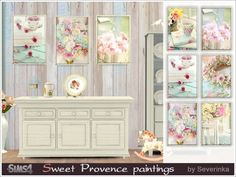 Sweet Provence paintings at Sims by Severinka • Sims 4 Updates