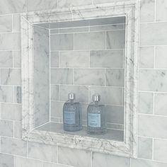 I love a good shower niche. Even better when its made in marble. 2019 I love a good shower niche. Even better when its made in marble. The post I love a good shower niche. Even better when its made in marble. 2019 appeared first on Shower Diy. Tile Shower Niche, Bathroom Niche, Diy Shower, Shower Tub, Small Bathroom, Downstairs Bathroom, Master Bathroom, Bathroom Ideas, Master Baths