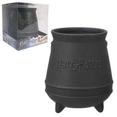 Harry Potter Black Cauldron Ceramic Mug - Monogram - Harry Potter - Mugs at Entertainment Earth