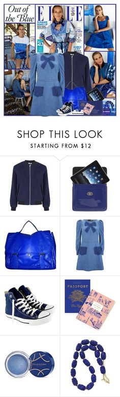 """""""Out Of The Blue"""" by kittyfantastica ❤ liked on Polyvore featuring Seed Design, Mulberry, Forever 21, Love Moschino, Converse, Rifle Paper Co, Elizabeth Arden and Kenneth Jay Lane"""