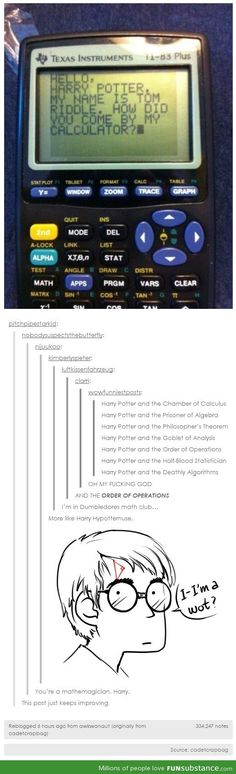Um, I think I need to create this if I ever teach upper grades. The Order of the Operations ahahaahaha! Mathemagicians...