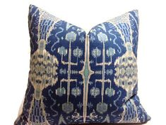 Pillows, Throw Pillows, Decorative Throw Pillows Designer Fabric  Blue  Pillows…