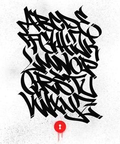 In the last 2 years I really worked hard on the dynamics and flow of my tagging-style. Happy to present you my first alphabet! Graffiti Lettering Alphabet, Graffiti Font, Graffiti Drawing, Hand Lettering, Strret Art, Tag Alphabet, Hip Hop Art, Tag Art, Flyers